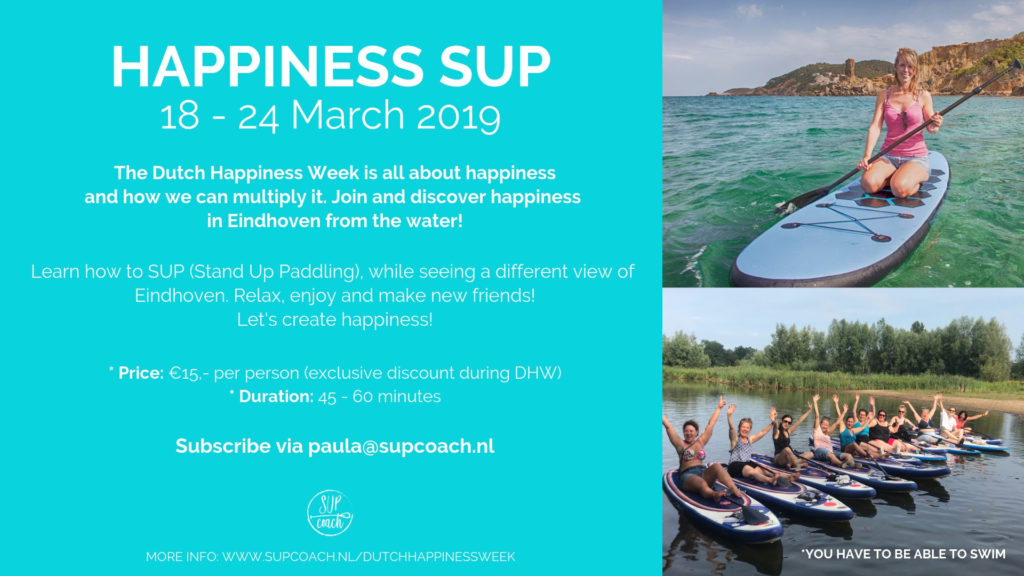 Happiness SUP - Supping during the Dutch Happiness Week by Supcoach.nl